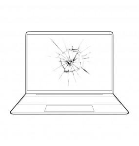 Reparar arreglar pantalla rota portátil HP en Málaga
