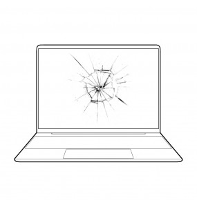 Reparar arreglar pantalla rota portátil Panasonic en Málaga