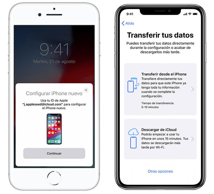 pasar datos de iPhone a iPhone